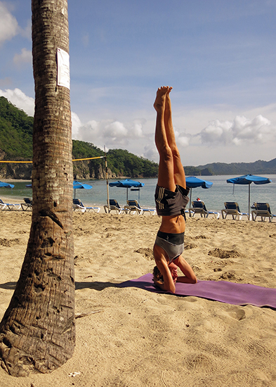 Yoga on the beach at Islas Tortugas, before the tourists arrived