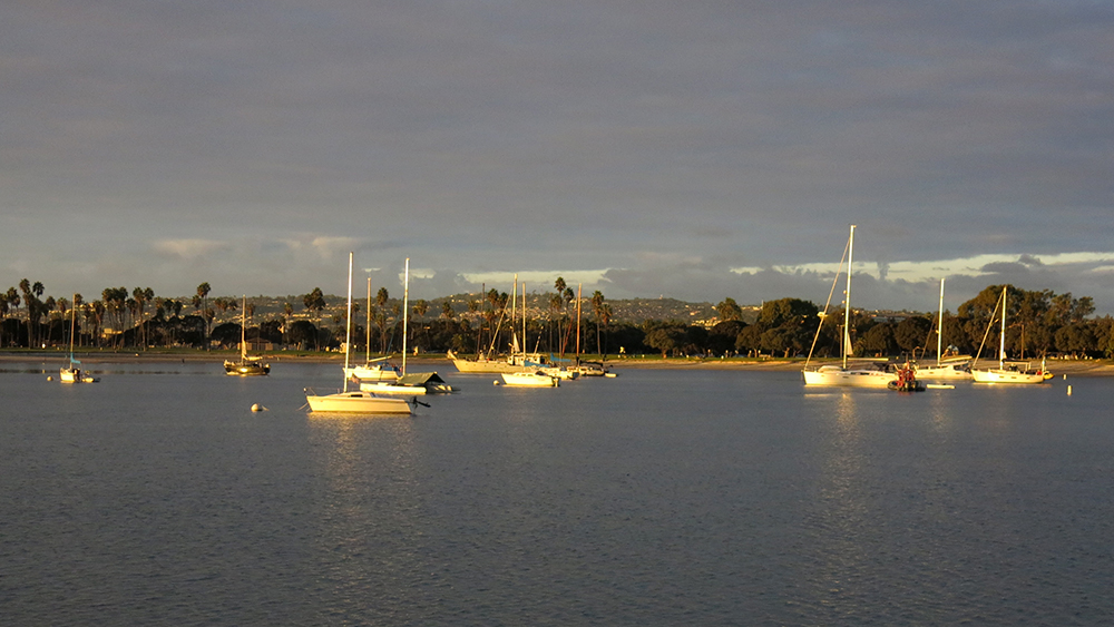 Wonderful calm and tranquility at sunset in Mission Bay