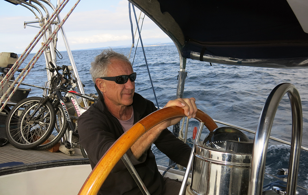 Neil at the helm
