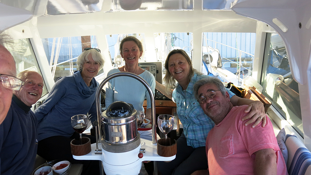 Pot luck with friends Anne and Mike from S/V Nimue